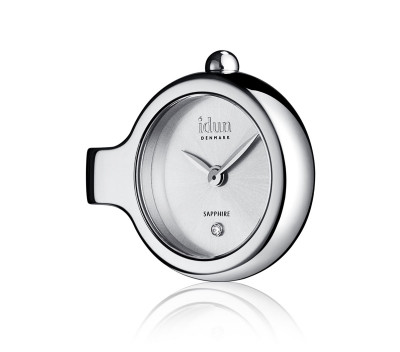 Pendant Charm Watch with Sunray Pattern Dial and one White Stone  - DCW1500