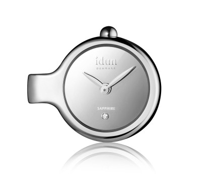 Pendant Charm Watch with Mirror Dial and one White Stone - DCW1100