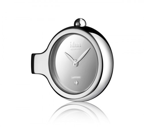 Pendant charm watch with mirror dial and one white stone dcw1100 aloadofball Images
