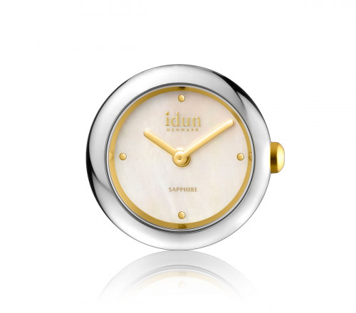 Rocking Charm Watch with Two Tone Case, Mother of Pearl Dial and White Stones - RCW2200CZ