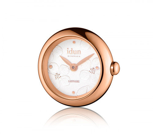 Rocking Charm Watch with Embossed Floral Pattern Dial, Rose Gold Plated Case and Rose Gold Details – RCW4510